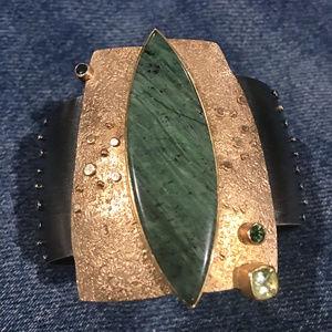 Sydney Lynch 18K/22K Gold Oxidized Silver Bracelet